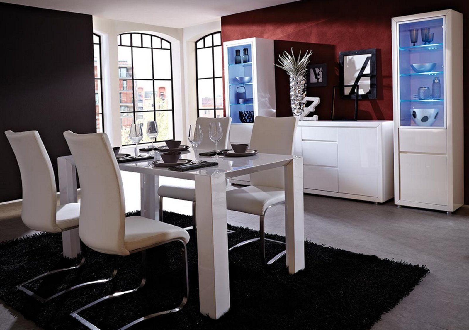 germania esstisch fino 190x90cm esszimmer wohnzimmer k chen tisch wei hochglanz 4005949217713. Black Bedroom Furniture Sets. Home Design Ideas