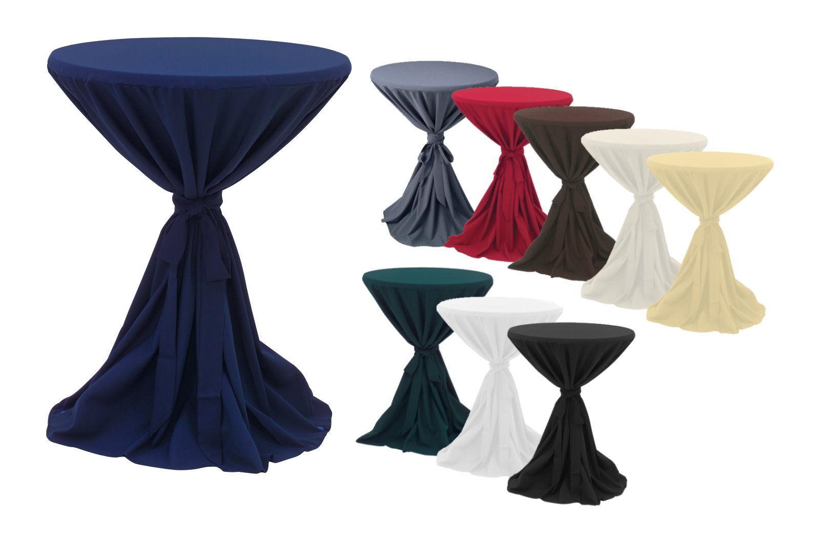 premium gastro stehtisch husse tischhusse bistrotisch tisch berwurf tischdecke ebay. Black Bedroom Furniture Sets. Home Design Ideas