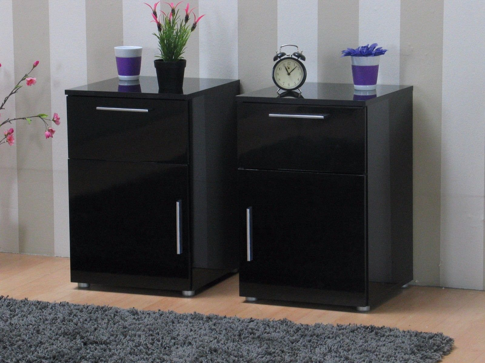 2x nachttisch infiniti nachtschrank nachtkonsole. Black Bedroom Furniture Sets. Home Design Ideas