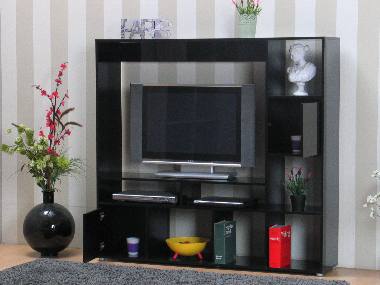 tv hifi schrank casie m bel regal wohnwand fernseher. Black Bedroom Furniture Sets. Home Design Ideas