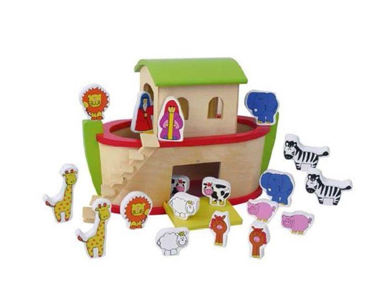 19tlg fun company holzspielzeug set arche noah zubeh r spielzeug schiff tiere ebay. Black Bedroom Furniture Sets. Home Design Ideas