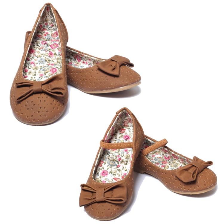 m dchen ballerina sommerschuhe gr 22 34 sandalen slipper kinder schuhe braun. Black Bedroom Furniture Sets. Home Design Ideas