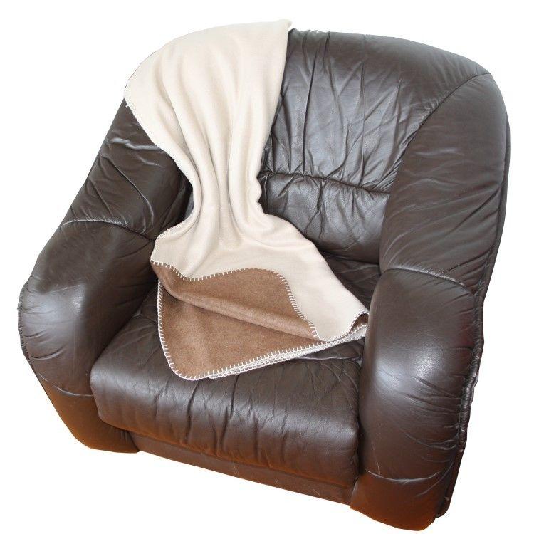 wende fleecdecke 150x200cm braun beige decke kuscheldecke wohndecke tagesdecke m bel wohnen. Black Bedroom Furniture Sets. Home Design Ideas