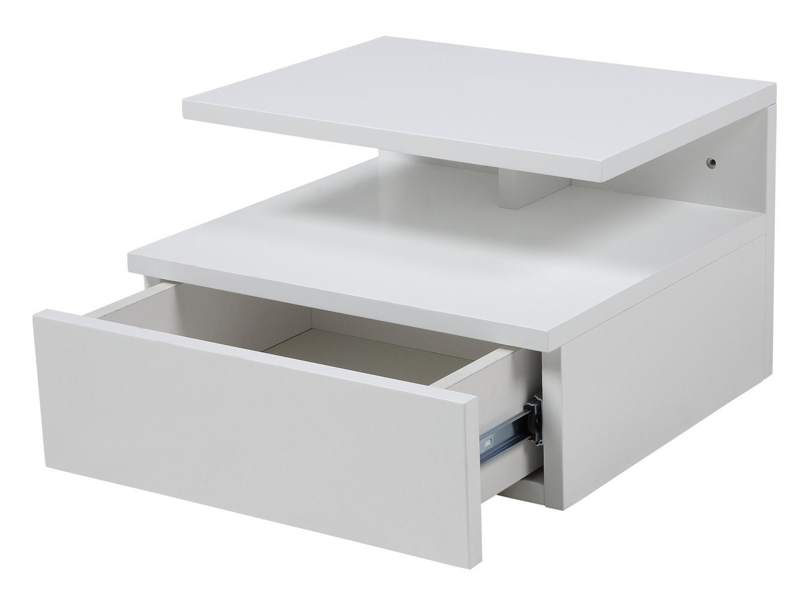 pkline nachttisch wand nachtkonsole schlafzimmer wei 5705994697377 ebay. Black Bedroom Furniture Sets. Home Design Ideas