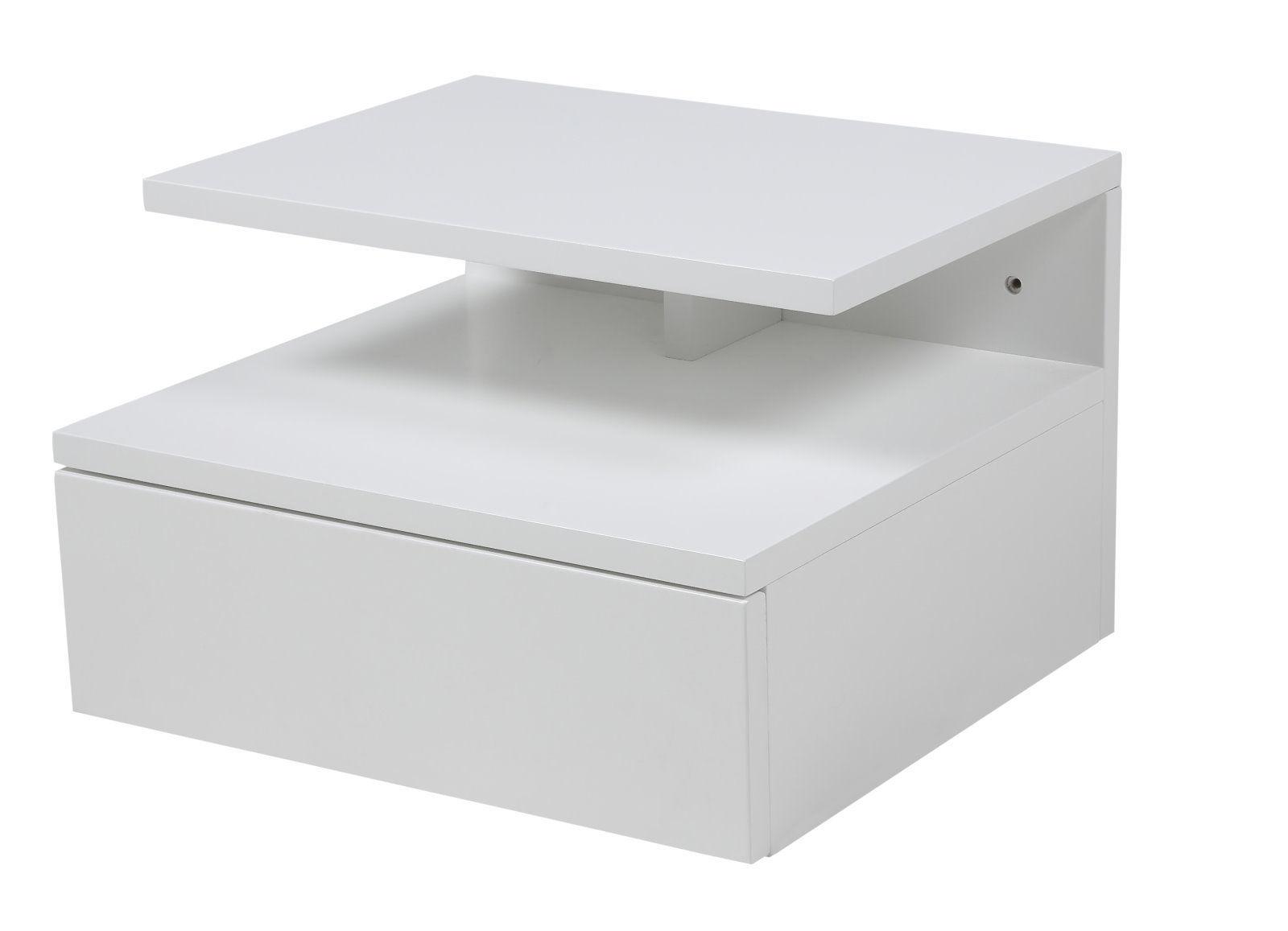 pkline table de chevet mur console de nuit chambre coucher blanc ebay. Black Bedroom Furniture Sets. Home Design Ideas