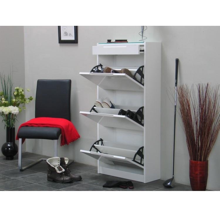 schuhschrank chess schuhkipper wei hochglanz m bel. Black Bedroom Furniture Sets. Home Design Ideas