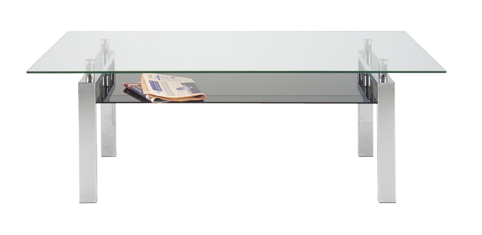Pkline Table Basse 120x60cm Table En Verre Salon Table