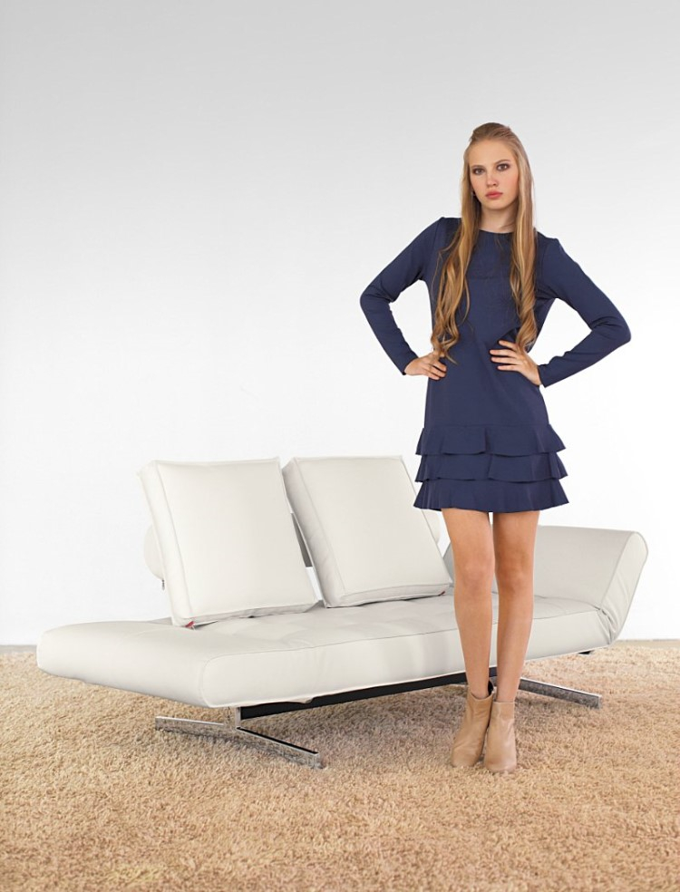 innovation schlafsofa ghia schlafcouch wei ebay. Black Bedroom Furniture Sets. Home Design Ideas