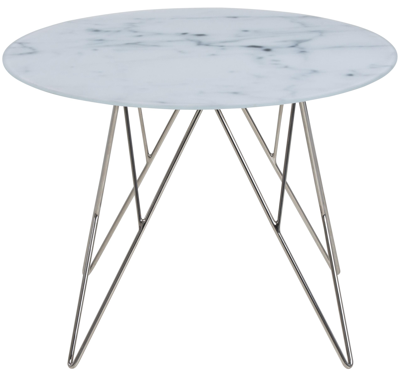PKline Beistelltisch O55cm Marmor Tisch Wohnzimmer Ecktisch Couchtisch