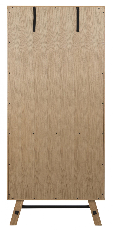 pkline vitrine massivholz eiche glasvitrine hoher schrank esszimmerschrank m bel wohnen. Black Bedroom Furniture Sets. Home Design Ideas