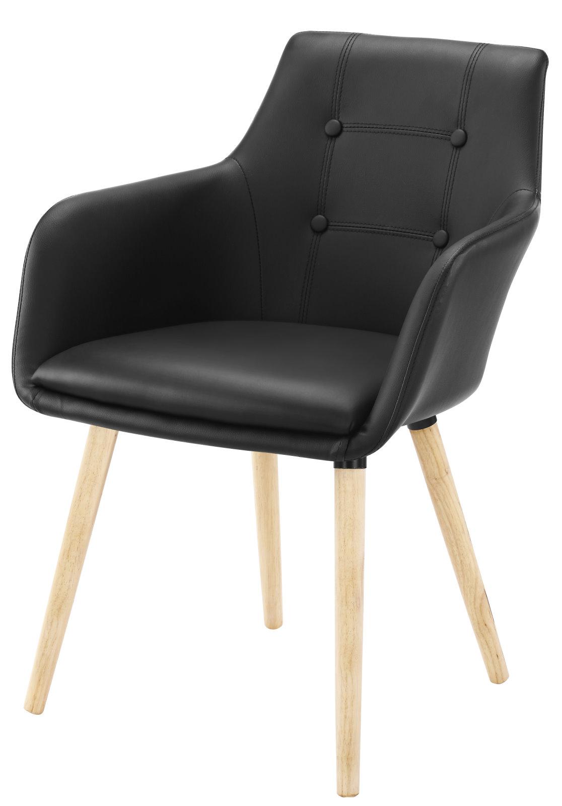2x esszimmerstuhl john schwarz esszimmerst hle retro stuhl. Black Bedroom Furniture Sets. Home Design Ideas
