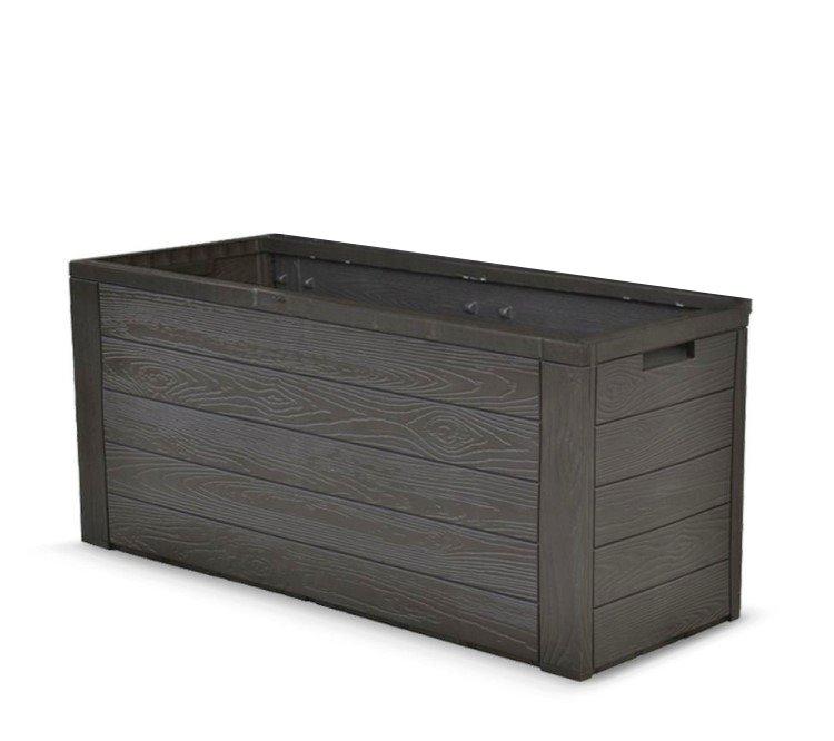 auflagenbox holz optik gartenbox gartentruhe auflagen kissenbox gartentruhe ebay. Black Bedroom Furniture Sets. Home Design Ideas