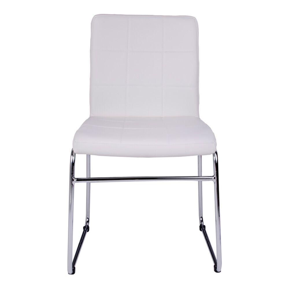 2 x esszimmerstuhl cube in wei stuhl k chenstuhl stuhlset. Black Bedroom Furniture Sets. Home Design Ideas