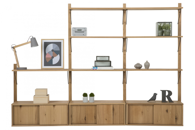 pkline regalelement in wildeiche regal b cherregal. Black Bedroom Furniture Sets. Home Design Ideas