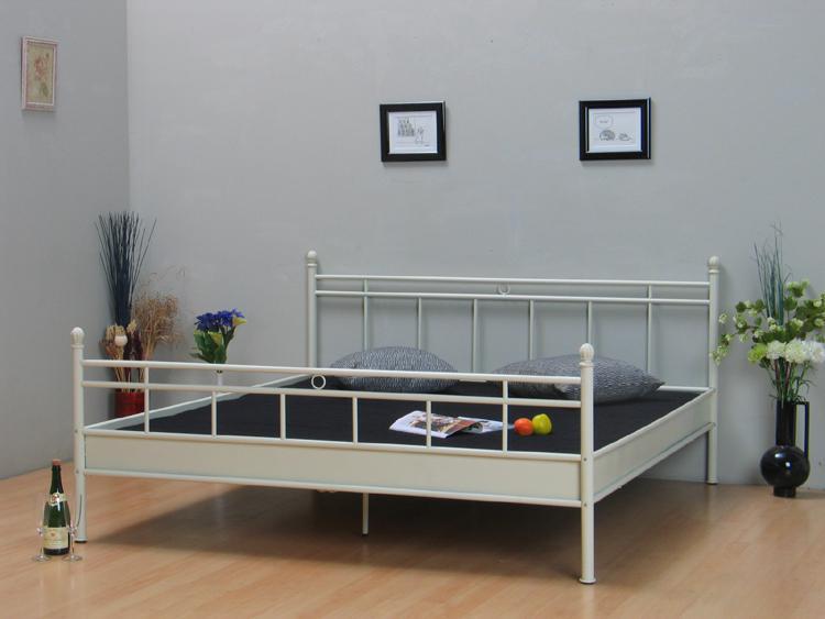 metall doppelbett 140x200 ehebett metallbett bett bettgestell jugendbett vanille ebay. Black Bedroom Furniture Sets. Home Design Ideas