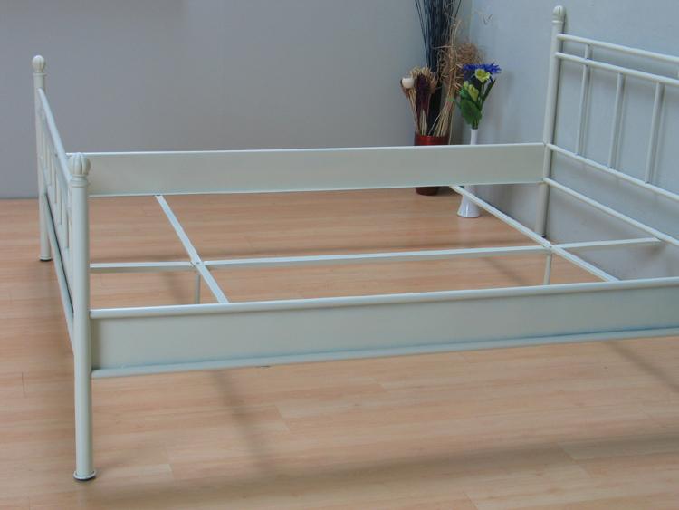 metall doppelbett 140x200 ehebett metallbett bett bettgestell jugendbett vanille m bel wohnen. Black Bedroom Furniture Sets. Home Design Ideas