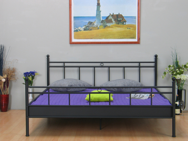 metall doppelbett 140x200 ehebett metallbett bett bettgestell jugendbett schwarz m bel wohnen. Black Bedroom Furniture Sets. Home Design Ideas