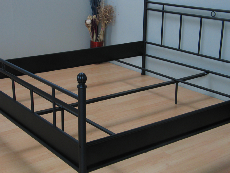Metallbett 140x200 schwarz  Metall Doppelbett 140x200 Ehebett Metallbett Bett Bettgestell ...