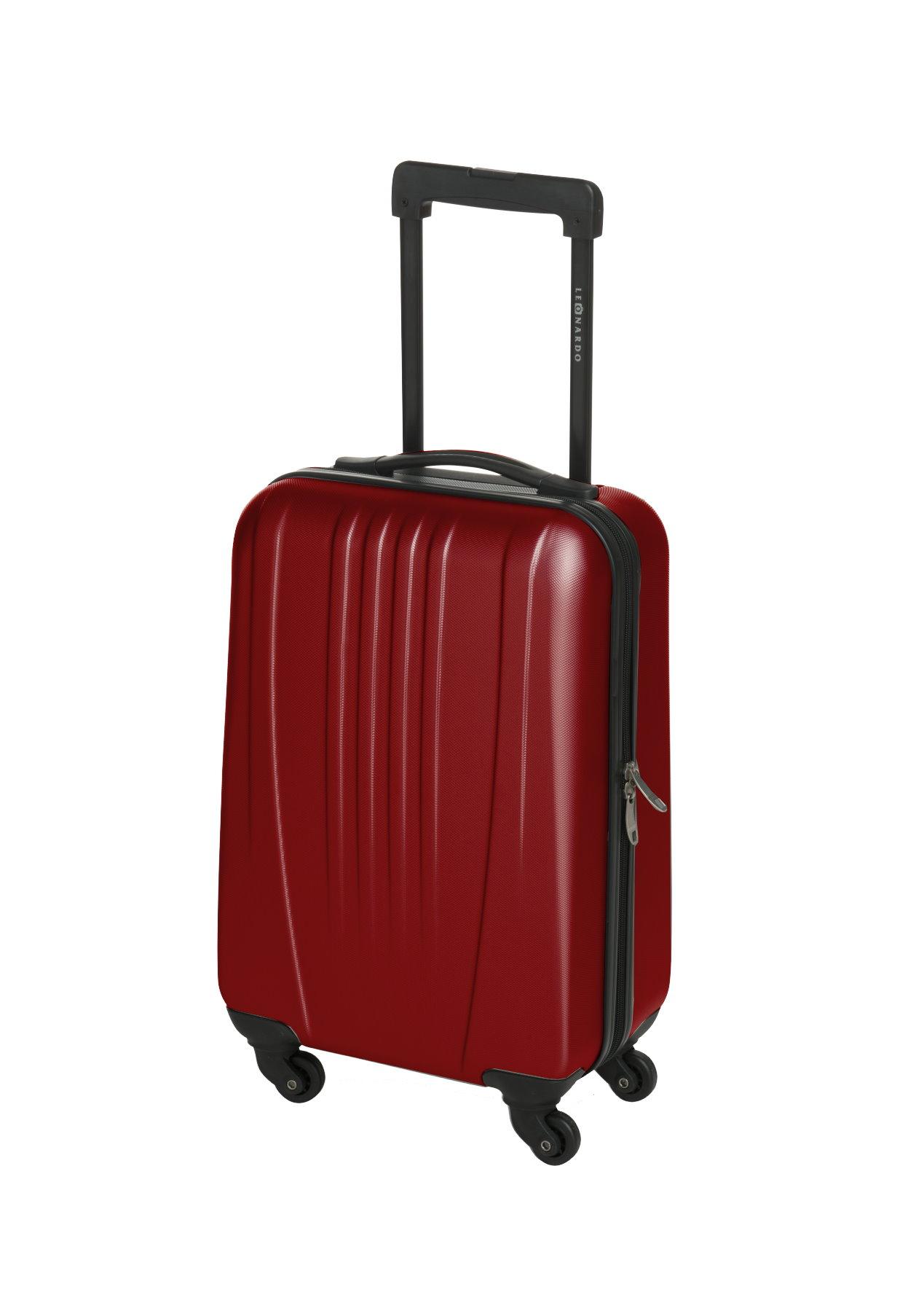 30l leonardo koffer reisekoffer handgep ck trolley koffer. Black Bedroom Furniture Sets. Home Design Ideas