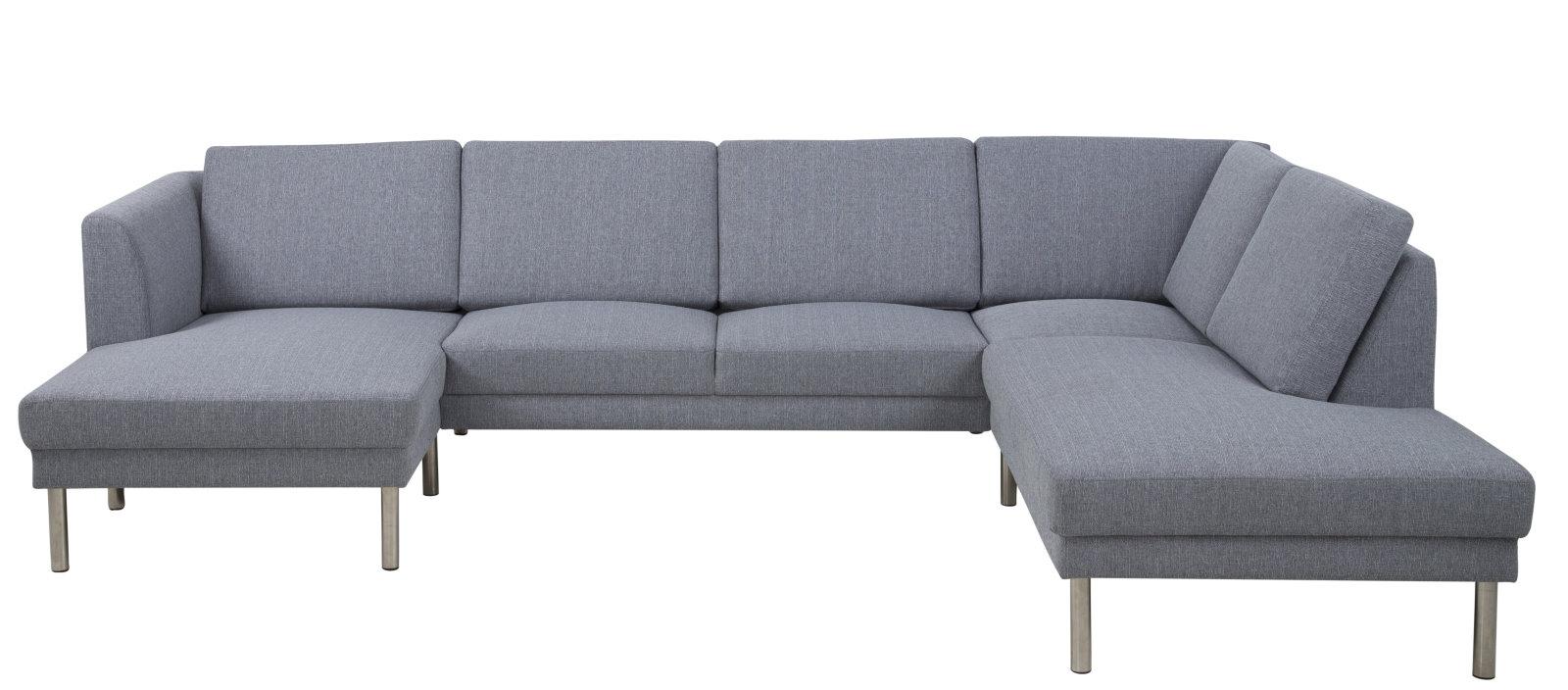 Pkline eckcouch grau couch chaiselounge ecksofa for Wohnzimmer wohnlandschaft