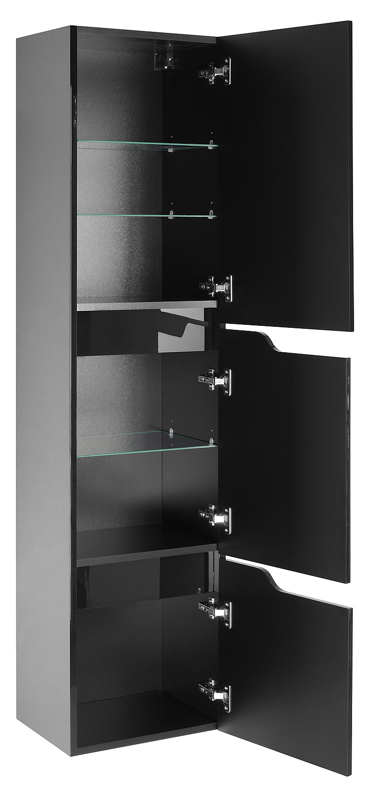 hochschrank lili badm bel badezimmerschrank bad schwarz. Black Bedroom Furniture Sets. Home Design Ideas