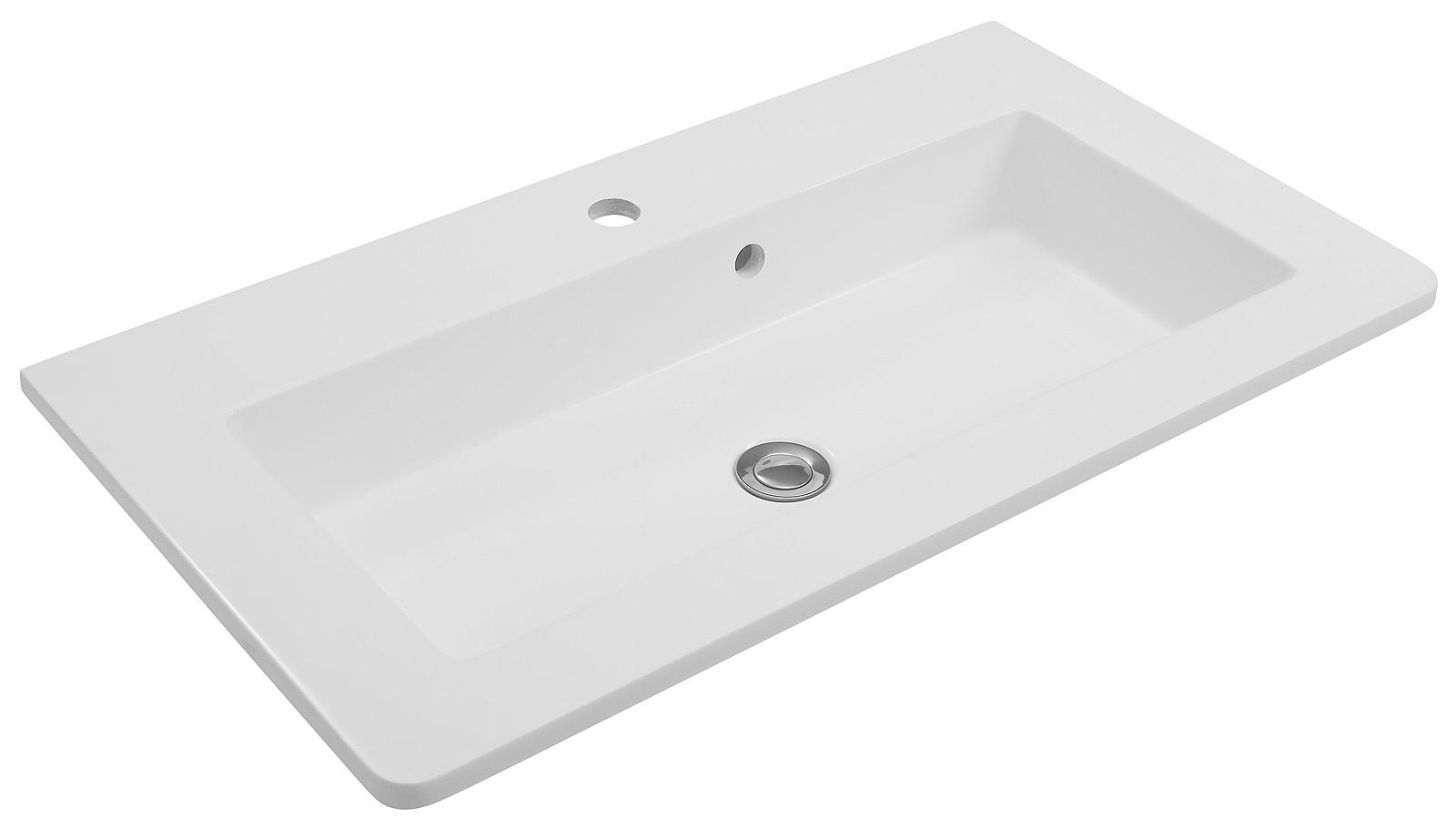 waschbeckenunterschrank gloria in wei mit waschbecken unterschrank bad badm bel ebay. Black Bedroom Furniture Sets. Home Design Ideas