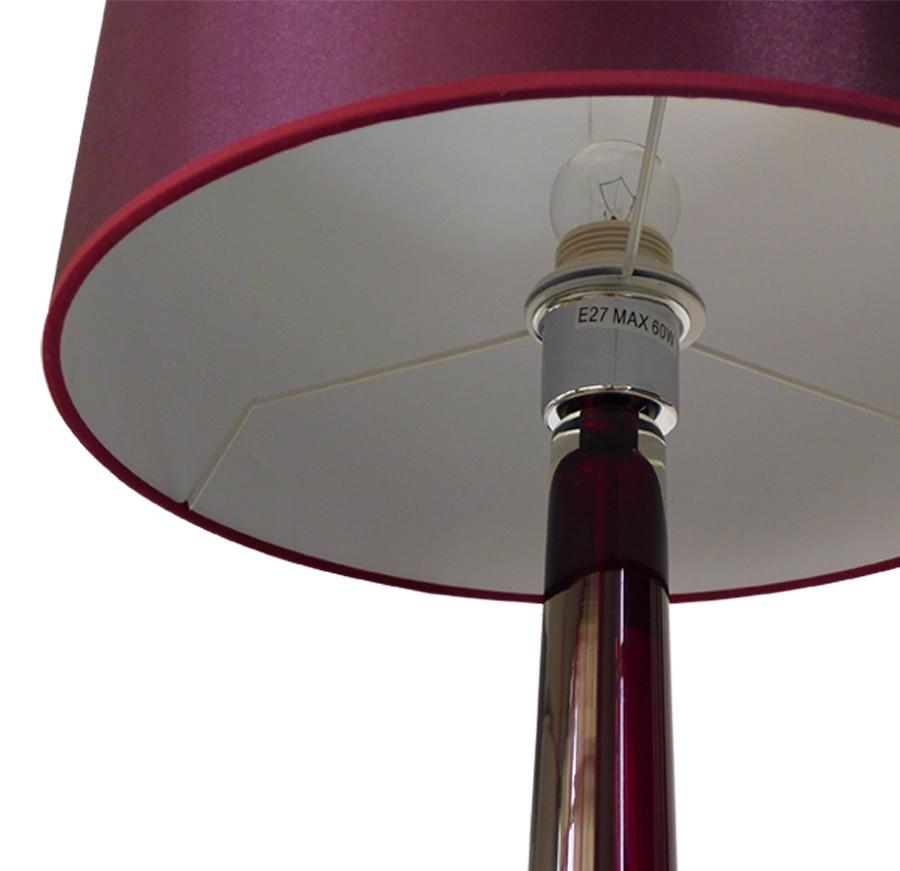 badly bitten edelstahl glas tischlampe 87cm nachttisch tisch lampe leuchte m bel wohnen lampen. Black Bedroom Furniture Sets. Home Design Ideas