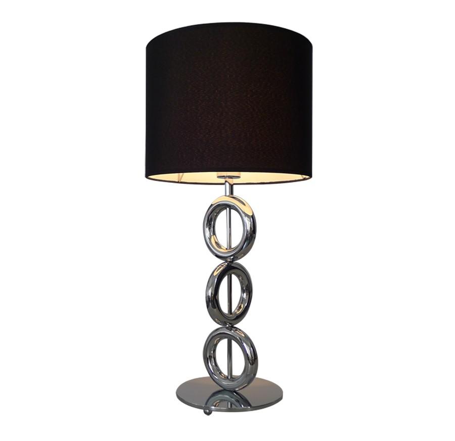 badly bitten edelstahl tischlampe 65cm nachttisch lampe leuchte tischleuchte ebay. Black Bedroom Furniture Sets. Home Design Ideas