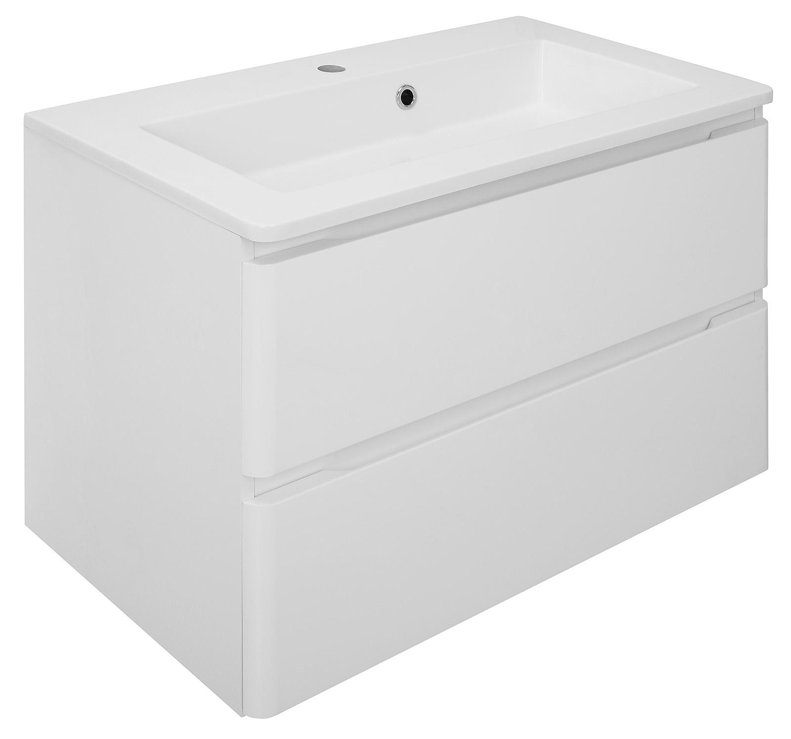 waschbeckenunterschrank maja in wei mit waschbecken unterschrank bad badm bel ebay. Black Bedroom Furniture Sets. Home Design Ideas