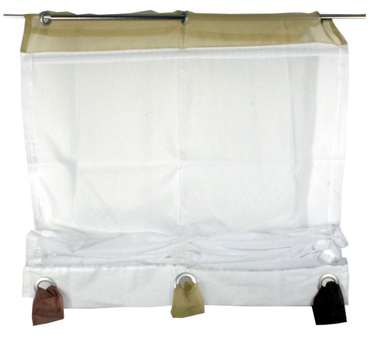 fertigdeko raffrollo 155x80 fenster voile rollo faltrollo gardine plissee sen m bel wohnen. Black Bedroom Furniture Sets. Home Design Ideas