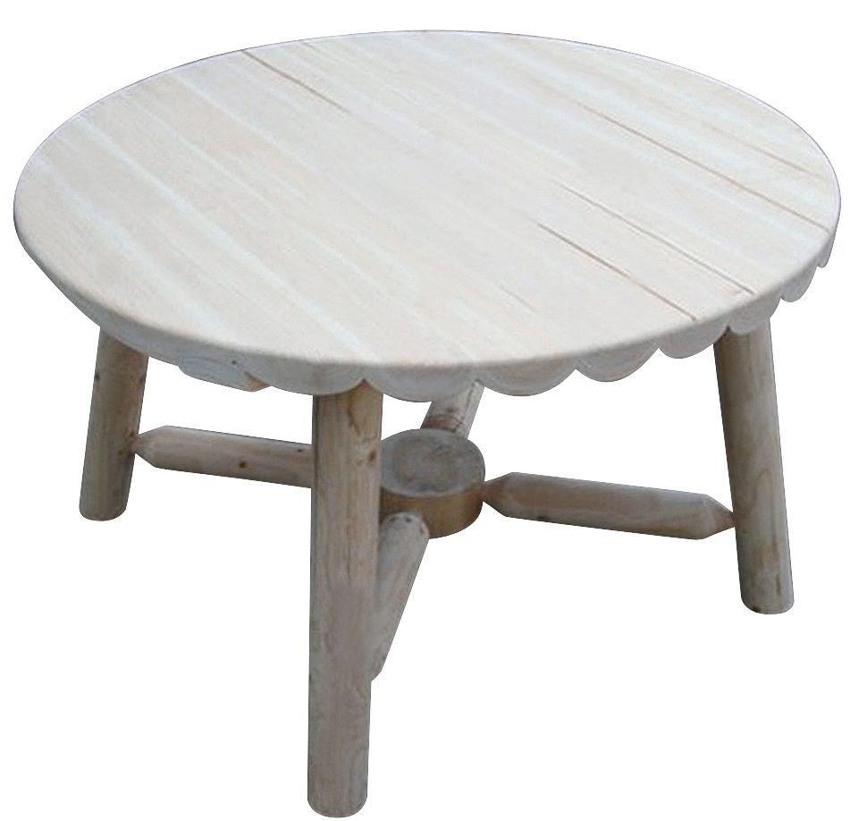 Gartentisch holz massiv  Leco Massiv Holz Tisch Ø 88cm Gartentisch Garten Möbel Rundholz ...