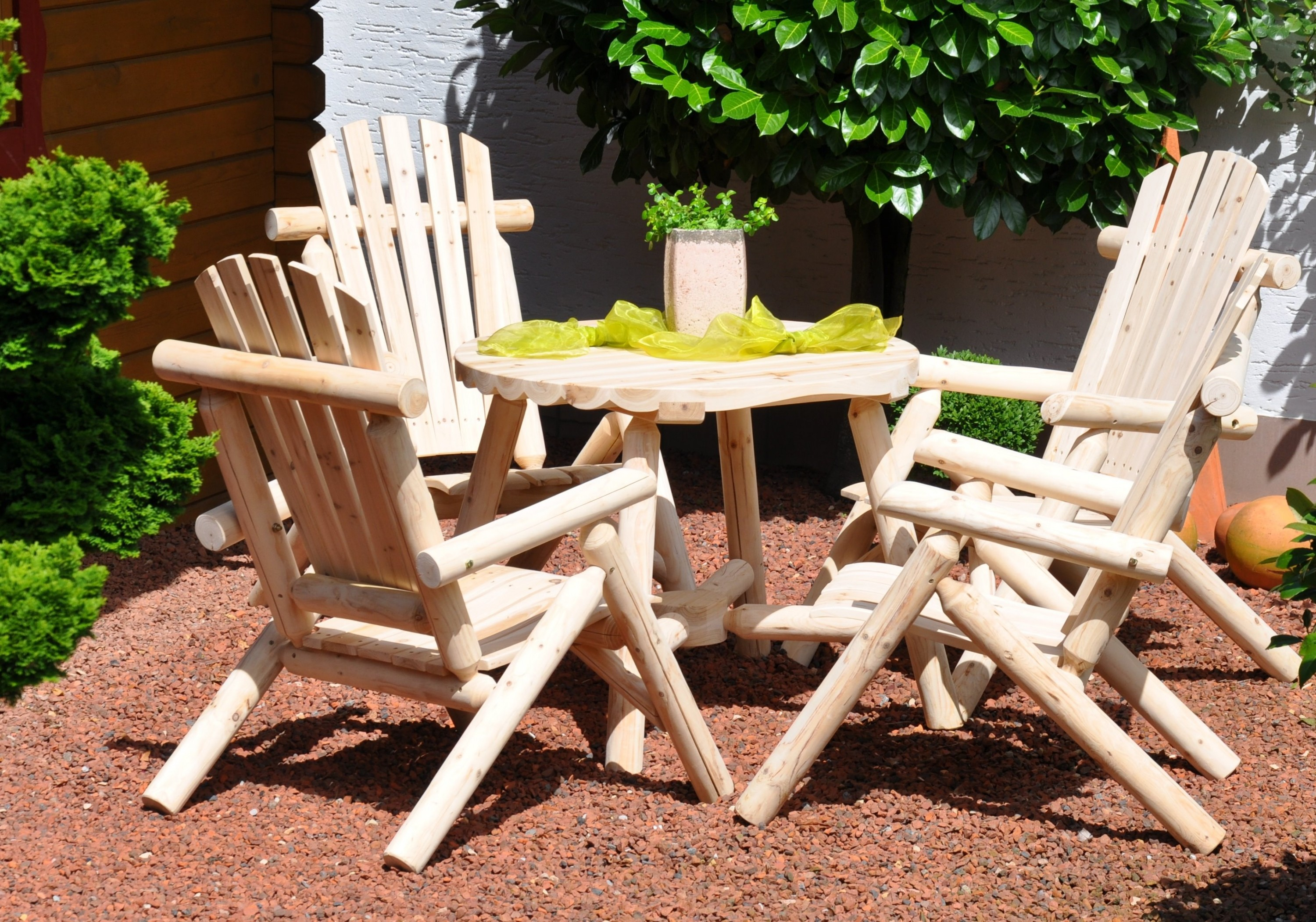 Beautiful table de jardin bois brut images amazing house for Table a manger bois brut