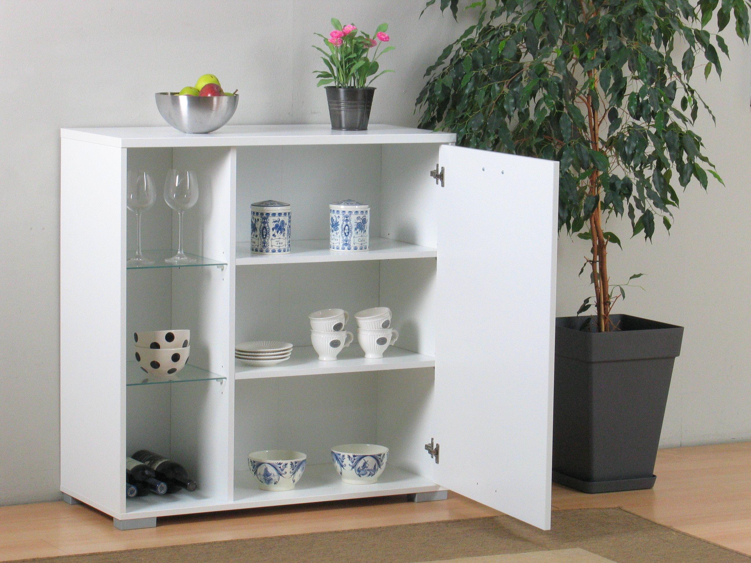 anrichte wega kommode wandschrank h ngeschrank glas. Black Bedroom Furniture Sets. Home Design Ideas