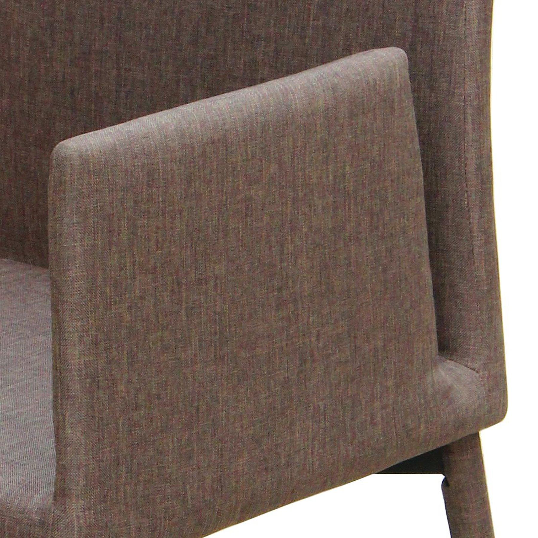 2x stuhl armlehne polsterstuhl braun stuhl set esszimmer k chen st hle stoff m bel wohnen. Black Bedroom Furniture Sets. Home Design Ideas