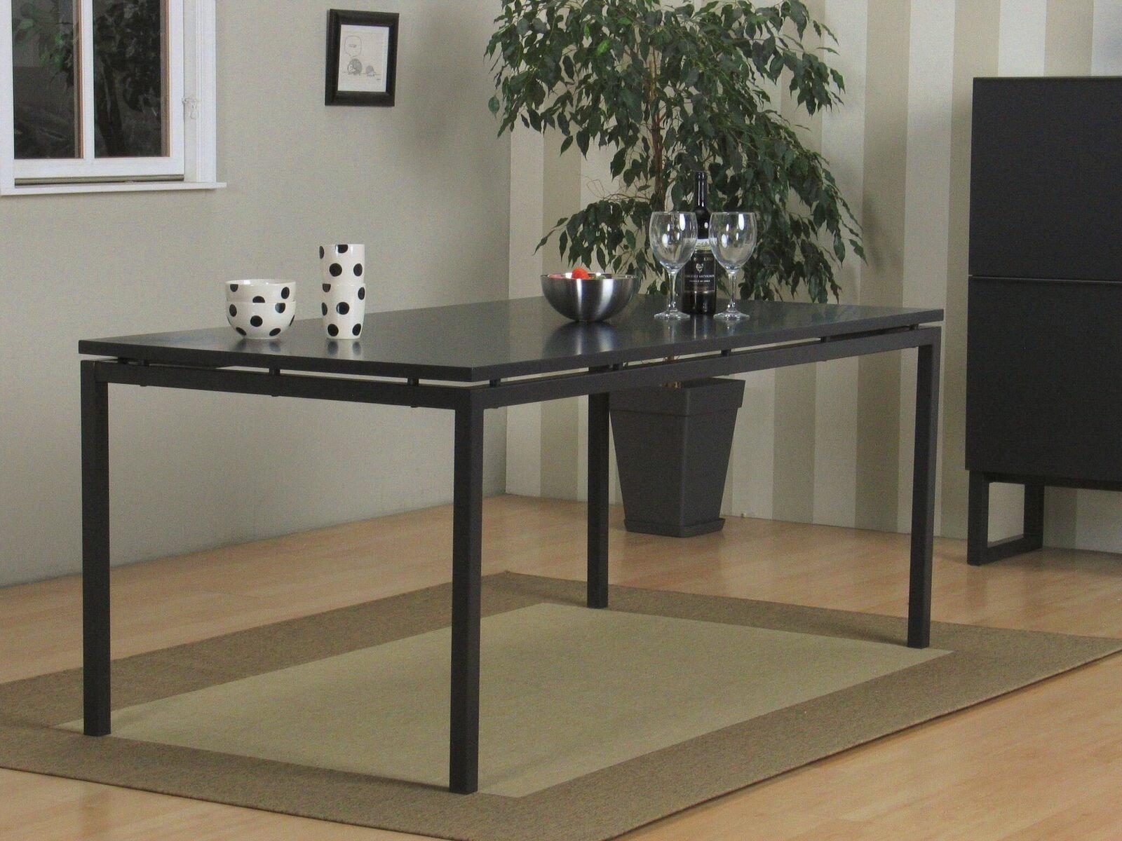 Esstisch 90x180cm matt grau lackiert m bel wohnen tische for Esstisch 90x180