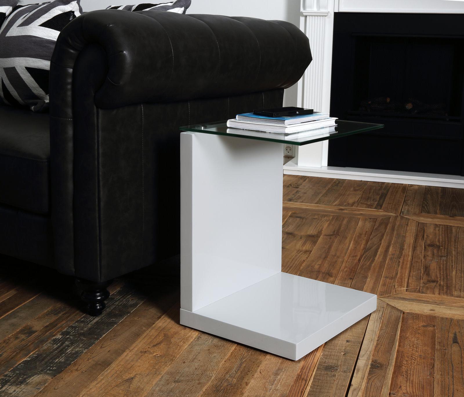 pkline beistelltisch in wei hochglanz m bel wohnen wohnzimmer. Black Bedroom Furniture Sets. Home Design Ideas