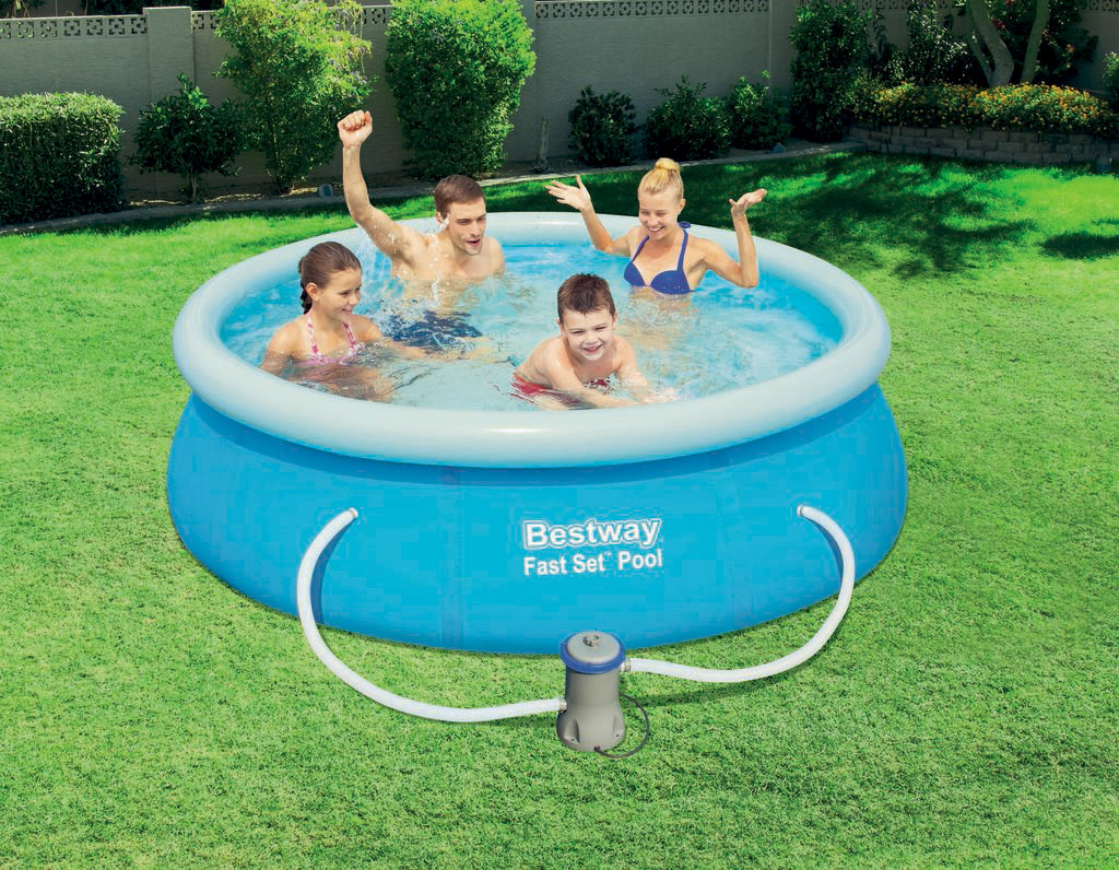 Fast set pool 244x66cm quick up swimming pool becken for Swimming pool set angebot
