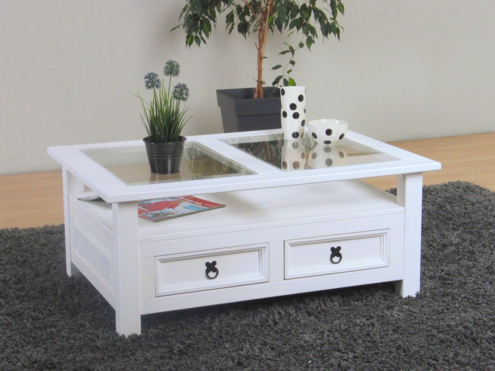 couchtisch new mexico weiss kiefer massiv mexiko tisch beistelltisch m bel wohnen wohnzimmer. Black Bedroom Furniture Sets. Home Design Ideas