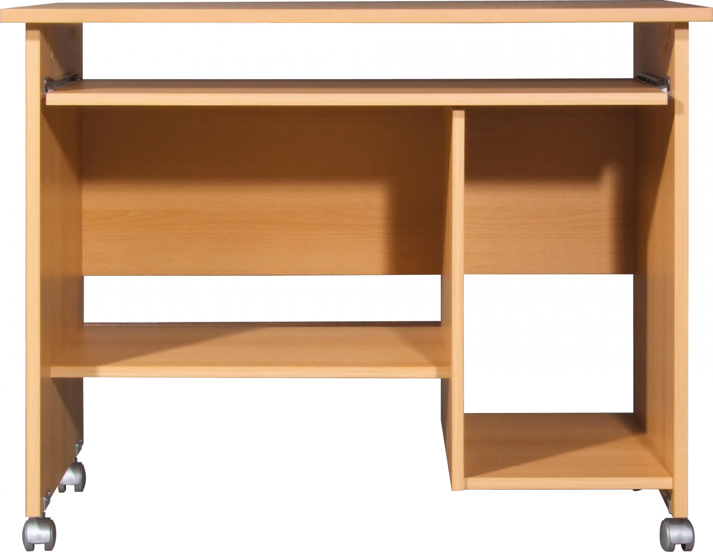 schreibtisch computertisch pc tisch arbeitstisch b rotisch b ro m bel buche ebay. Black Bedroom Furniture Sets. Home Design Ideas