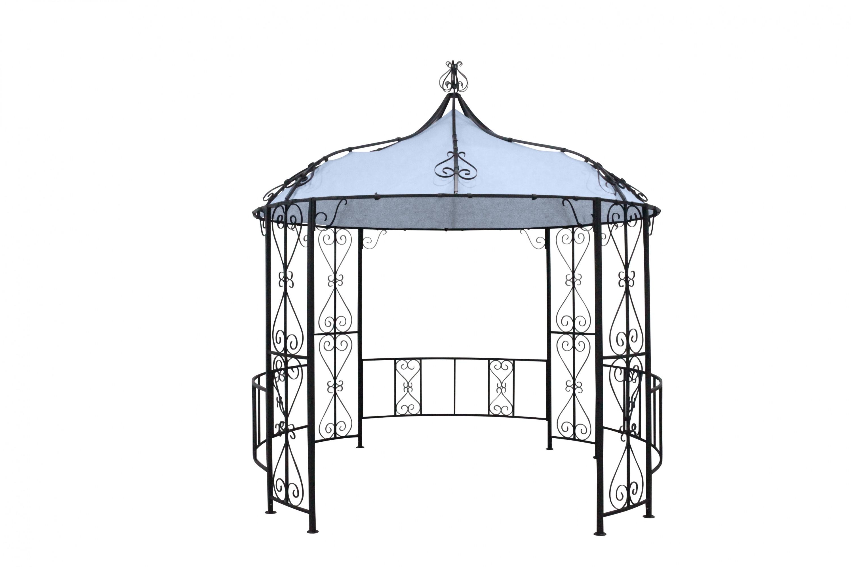 leco garten pavillon schlossgarten 3m sonnenschutz festzelt partyzelt grau 4009266863585 ebay. Black Bedroom Furniture Sets. Home Design Ideas