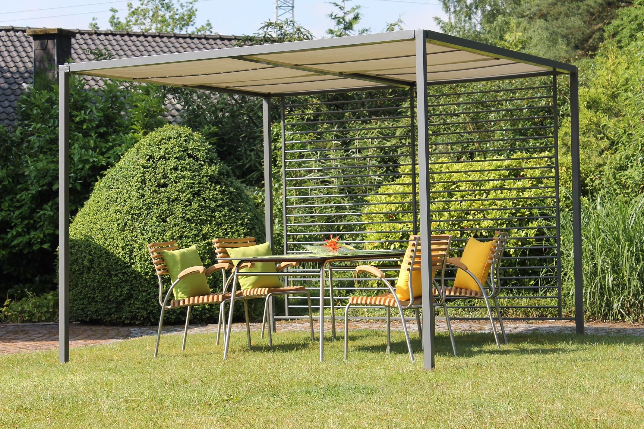 leco design pergola 2 8x2 8 garten terrasse berdachung sonnenschutz pavillon ebay. Black Bedroom Furniture Sets. Home Design Ideas