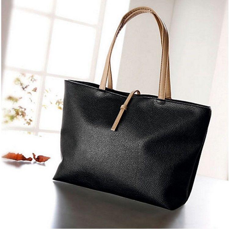 handtasche reise schulter tasche damen shopper schwarz. Black Bedroom Furniture Sets. Home Design Ideas