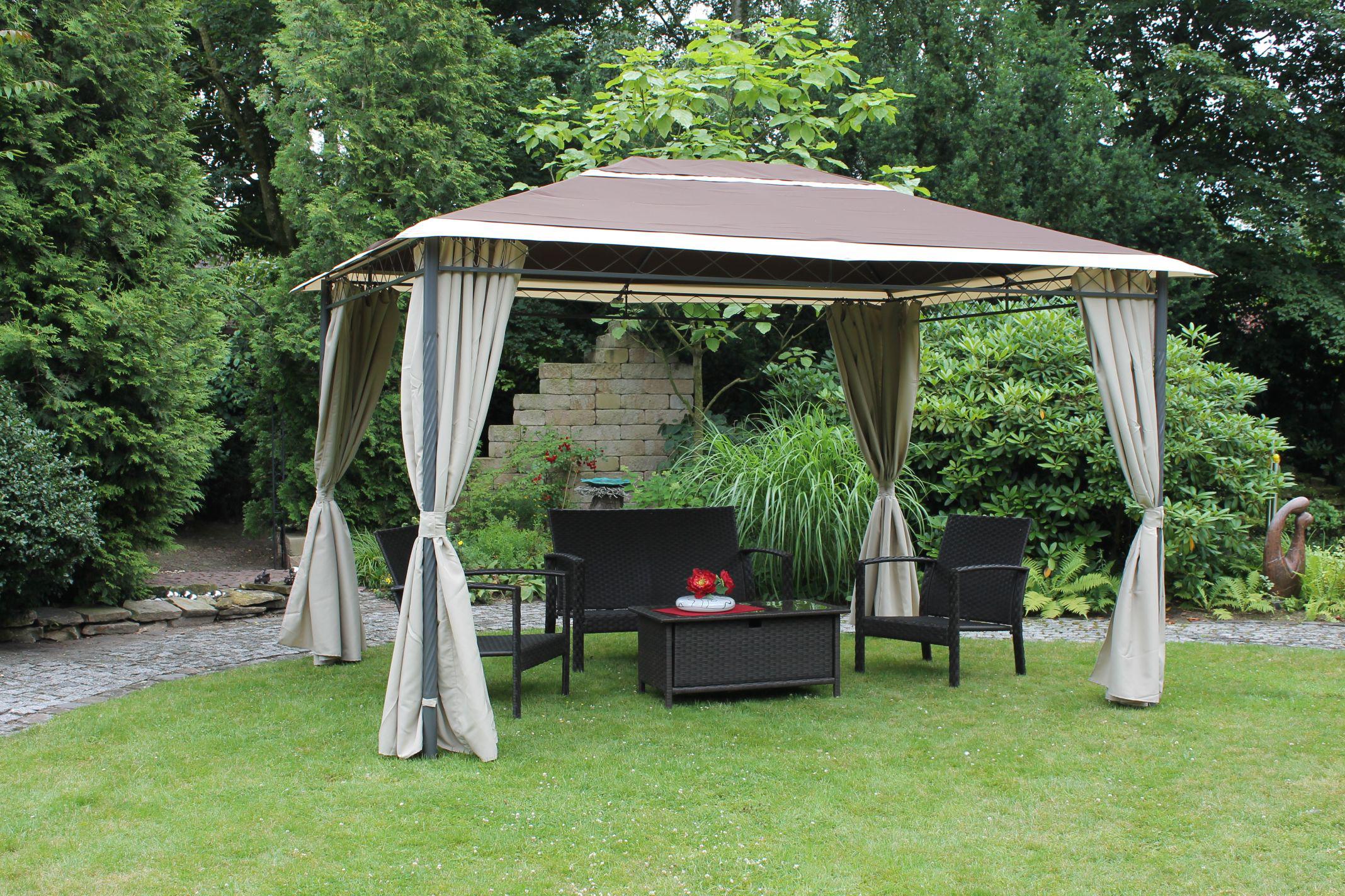 leco antik pavillon seitenteile garten partyzelt festzelt zelt gartenm bel ebay. Black Bedroom Furniture Sets. Home Design Ideas