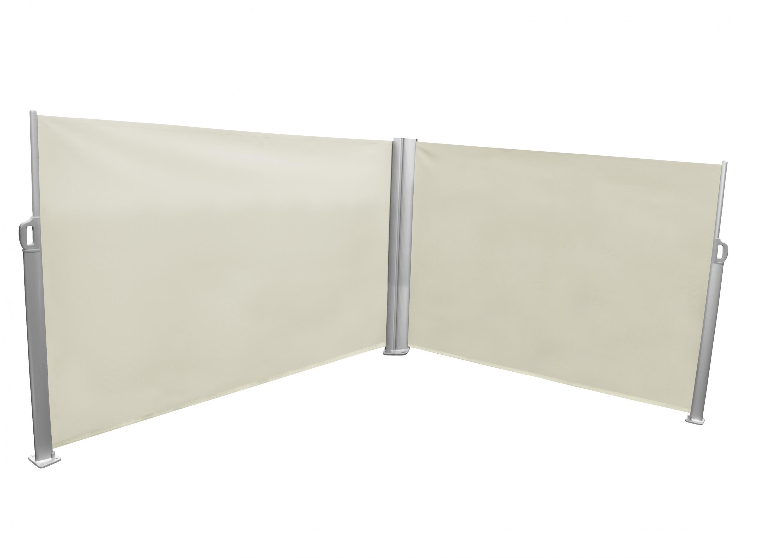 leco doppel seitenmarkise markise 1 6x6m sichtschutz trennwand windschutz natur garten m bel. Black Bedroom Furniture Sets. Home Design Ideas