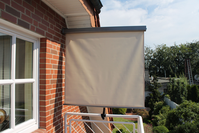 leco balkonmarkise markise sonnenschutz 1 20x2m windschutz sichtschutz natur ebay. Black Bedroom Furniture Sets. Home Design Ideas