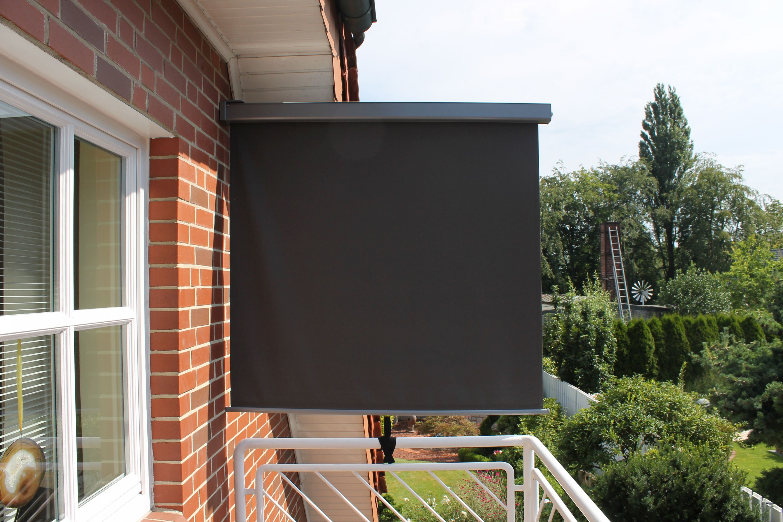 leco balkonmarkise markise sonnenschutz 1 50x2m windschutz. Black Bedroom Furniture Sets. Home Design Ideas