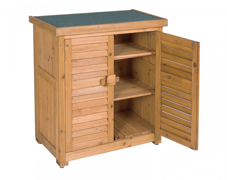 leco gartenschrank schrank garten aufbewahrung honigfarben 95cm fichte ebay. Black Bedroom Furniture Sets. Home Design Ideas