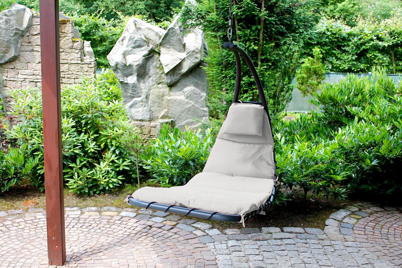 leco schwingliege h ngeliege h ngesessel sonnenliege garten liege m bel grau garten m bel. Black Bedroom Furniture Sets. Home Design Ideas