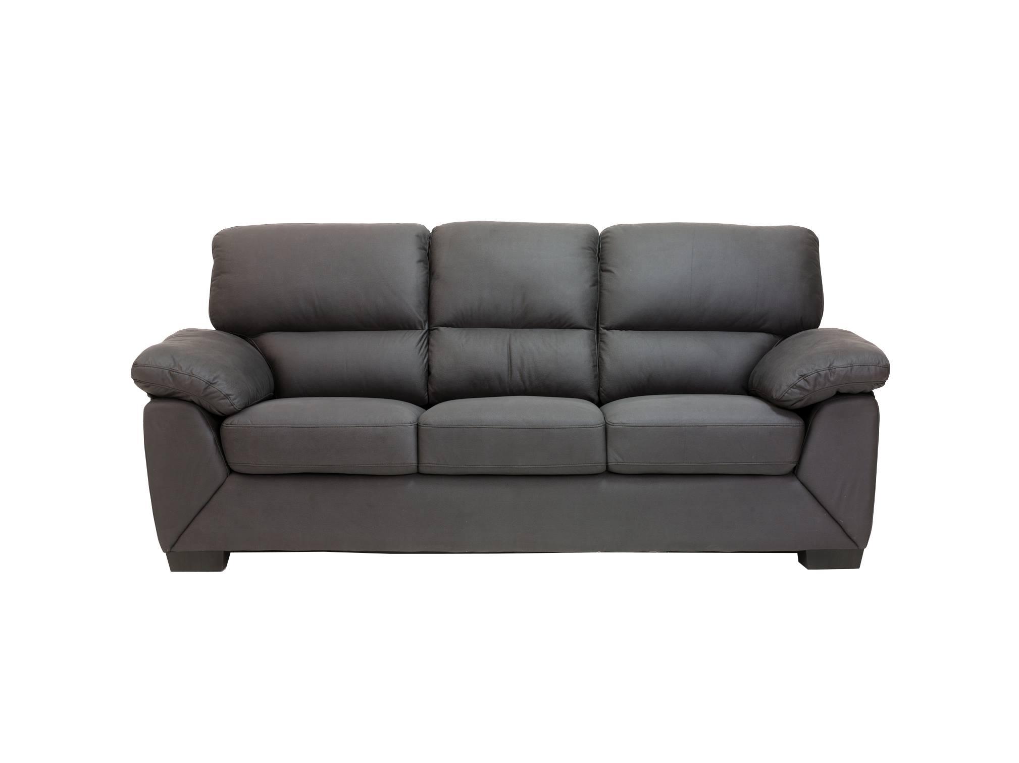 Pkline 3 sitzer sofa rica in grau couch couchgarnitur for Wohnlandschaft 10 personen