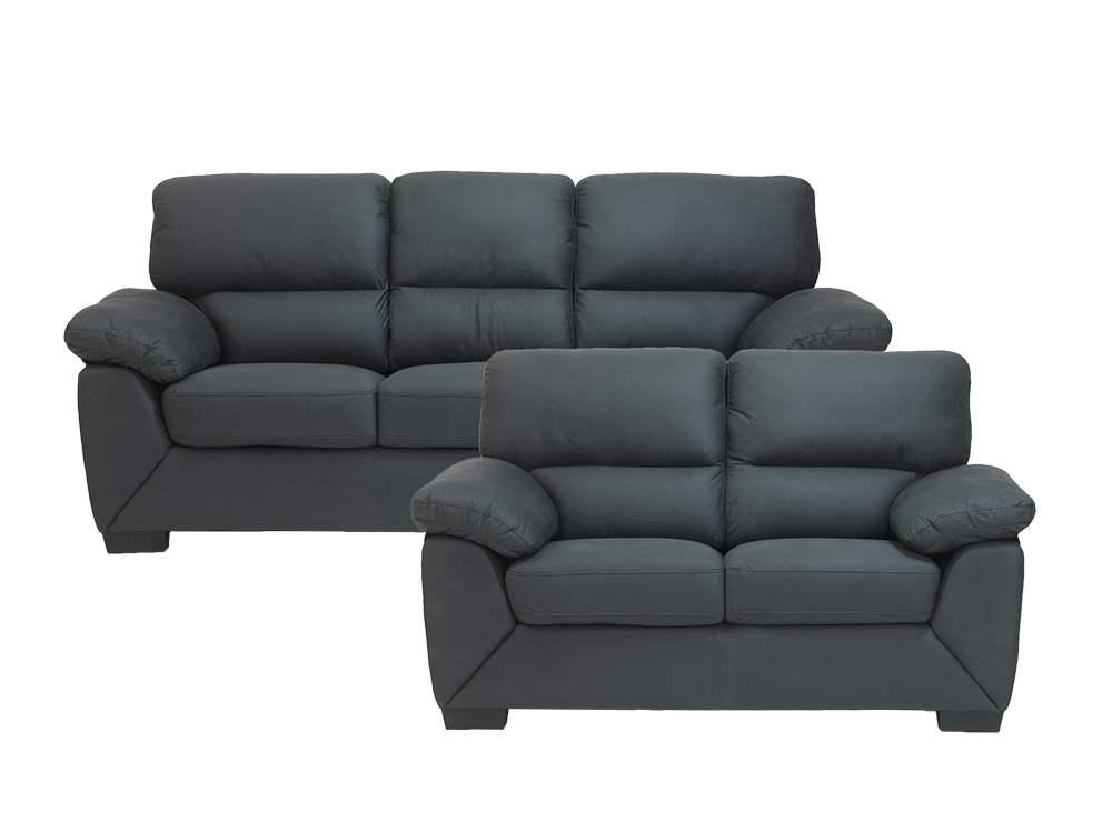 pkline sofagruppe rica in grau 2 und 3 sitzer. Black Bedroom Furniture Sets. Home Design Ideas